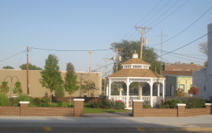 The gazebo in downtown Atwood, provided by FB&T.
